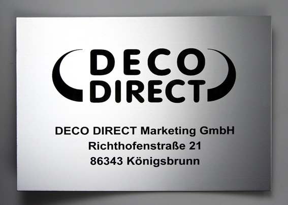 Firmenschild DECO DIRECT