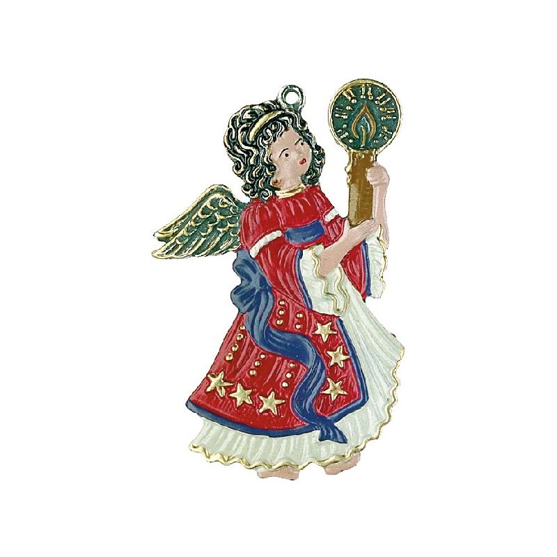 zinnfigur engel mit kerze rot
